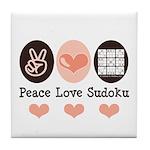 Peace Love Sudoku Tile Coaster