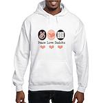 Peace Love Sudoku Hooded Sweatshirt