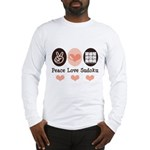 Peace Love Sudoku Long Sleeve T-Shirt
