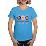 Peace Love Sudoku Women's Dark T-Shirt