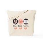 Peace Love Sudoku Tote Bag