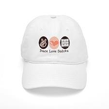 Peace Love Sudoku Baseball Cap