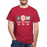 Peace Love Sudoku Dark T-Shirt