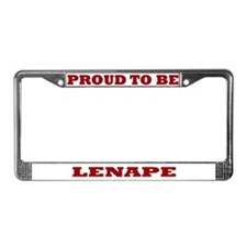 Proud to Be Lenape License Plate Frame