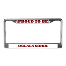 Proud to Be Oglala Sioux License Plate Frame
