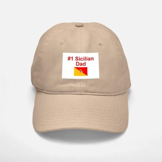 #1 Sicilian Dad Baseball Baseball Cap