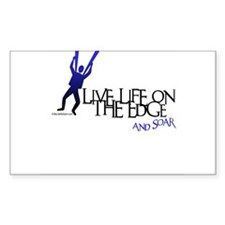 LIVE LIFE ON THE EDGE-AND SOAR Sticker (Rectangula