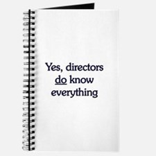 Yes, Directors Know Everything Journal