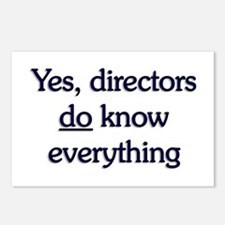 Yes, Directors Know Everything Postcards (Package
