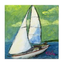 Evening Sail -- Tile Coaster