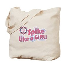 I Spike Volleyball Tote Bag