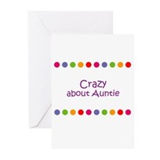 Crazy about Auntie Greeting Cards (Pk of 10)