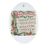 Hark! The Herald Angels Sing Oval Ornament