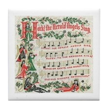 Hark! The Herald Angels Sing Tile Coaster