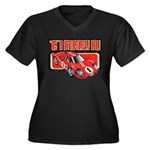 1967 Ford Mark IV Women's Plus Size V-Neck Dark T-