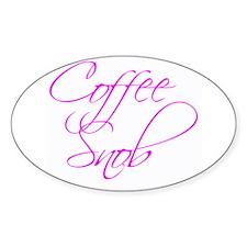 """Coffee Snob"" - Oval Decal"