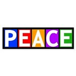 Multicolored Peace Bumper Sticker