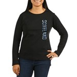 Scotland Stamp Women's Long Sleeve Dark T-Shirt