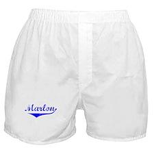 Marlon Vintage (Blue) Boxer Shorts