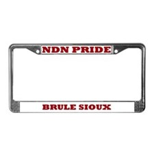 Brule Sioux NDN Pride License Plate Frame