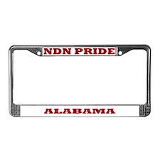 Alabama NDN Pride License Plate Frame