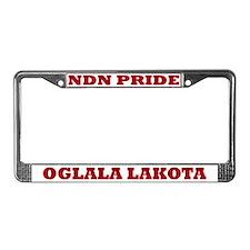 Oglala Lakota NDN Pride License Plate Frame