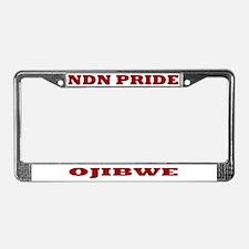 Ojibwe NDN Pride License Plate Frame
