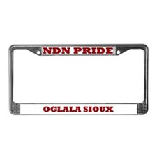 Oglala Sioux NDN Pride License Plate Frame