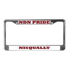 Nisqually NDN Pride License Plate Frame
