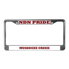 Muskogee Creek NDN Pride License Plate Frame
