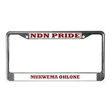 Mukwema Ohlone NDN Pride License Plate Frame
