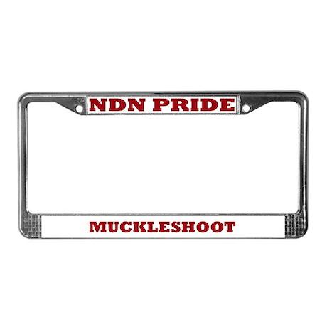 Muckleshoot NDN Pride License Plate Frame