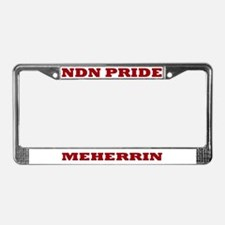 Meherrin NDN Pride License Plate Frame