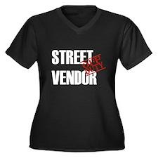 Off Duty Street Vendor Women's Plus Size V-Neck Da