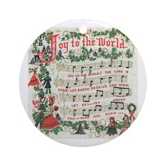 Joy to the World Ornament (Round)