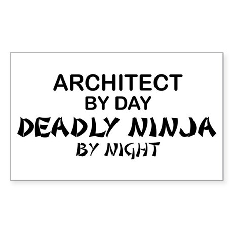 Architect Deadly Ninja Rectangle Sticker