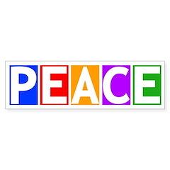Multicolored Peace Bumper Bumper Sticker