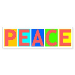 Many-Colored Peace Bumper Bumper Sticker