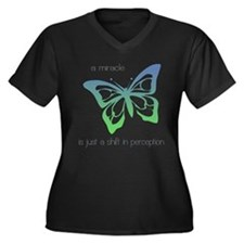 Miracle Butterfly Women's Plus Size V-Neck T-Shirt