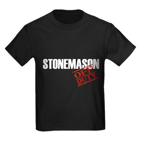Off Duty Stonemason Kids Dark T-Shirt