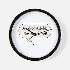 Ad-Lib! Ad-Lib Like the Wind! Wall Clock
