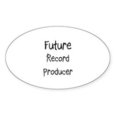 Future Record Producer Oval Decal