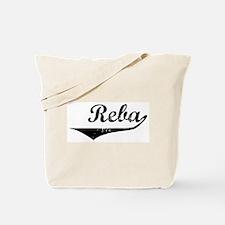 Reba Vintage (Black) Tote Bag