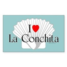 La Conchita Rectangle Decal