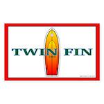 Twin Fin Rectangle Sticker