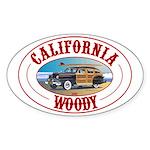 California Woody Oval Sticker