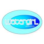 Watergirl Oval Sticker