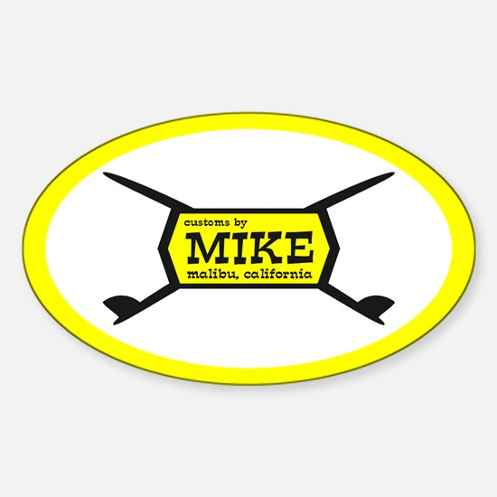 Mike Oval Decal