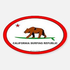California Bear Oval Decal
