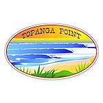 Topanga Point Oval Sticker